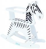 Fillikid Schaukeltier Zebra mit Sicherheitsring & Fußstütze - 1