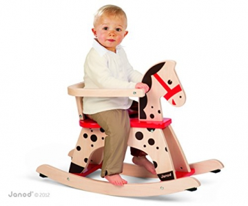 Janod 05984 - Schaukelpferd Caramel mit abnehmbarem Sitzbügel, Sitzhöhe: 31 cm - 5