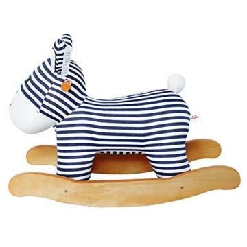 Labebe Baby hölzernes Schaukelpferd Streifen-Esel, Jungen & Mädchen Kleinkind SchaukelnReiten-auf Spielzeug für 1-3 Jahre alt, Gefüllter Tier Sitz, ASTM / CE / CE Sicherheit zertifiziert, kreatives Geburtstagsgeschenk - 4