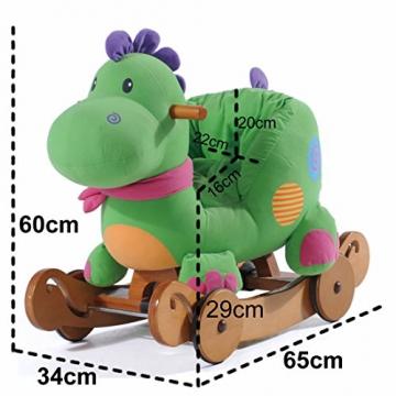 Labebe - Kinder Schaukelpferd - (Dinosaurier mit Rädern) - 5