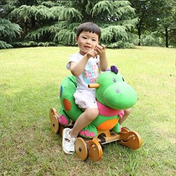 Labebe - Kinder Schaukelpferd - (Dinosaurier mit Rädern) - 6