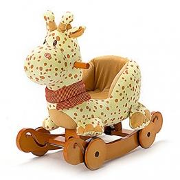 Labebe - Plüsch Schaukelpferd - Giraffe mit Räder - 1