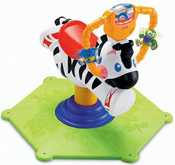 Mattel K0317 - Fisher-Price Hipp Hopp Zebra, Schaukeltier - 1