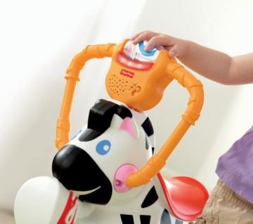 Mattel K0317 - Fisher-Price Hipp Hopp Zebra, Schaukeltier - 4