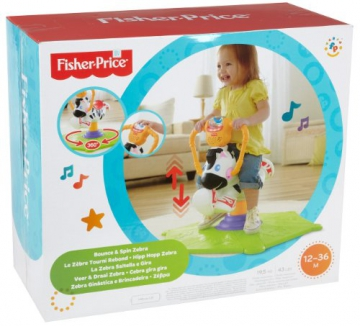 Mattel K0317 - Fisher-Price Hipp Hopp Zebra, Schaukeltier - 5