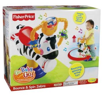 Mattel K0317 - Fisher-Price Hipp Hopp Zebra, Schaukeltier - 6