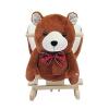 Schaukelpferd Kinder Schaukeltier Plüsch Schaukel Pferd Baby Schaukelspielzeug Geschenk für Kinder - Weihnachtsgeschenke (Schaukelbär mit Lied) - 1
