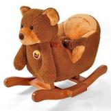 Schaukeltier Bär Schaukelpferd Plüsch Schaukel Geschenk *2522 - 1